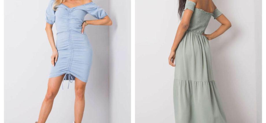 sukienka na lato z odkrytymi ramionami