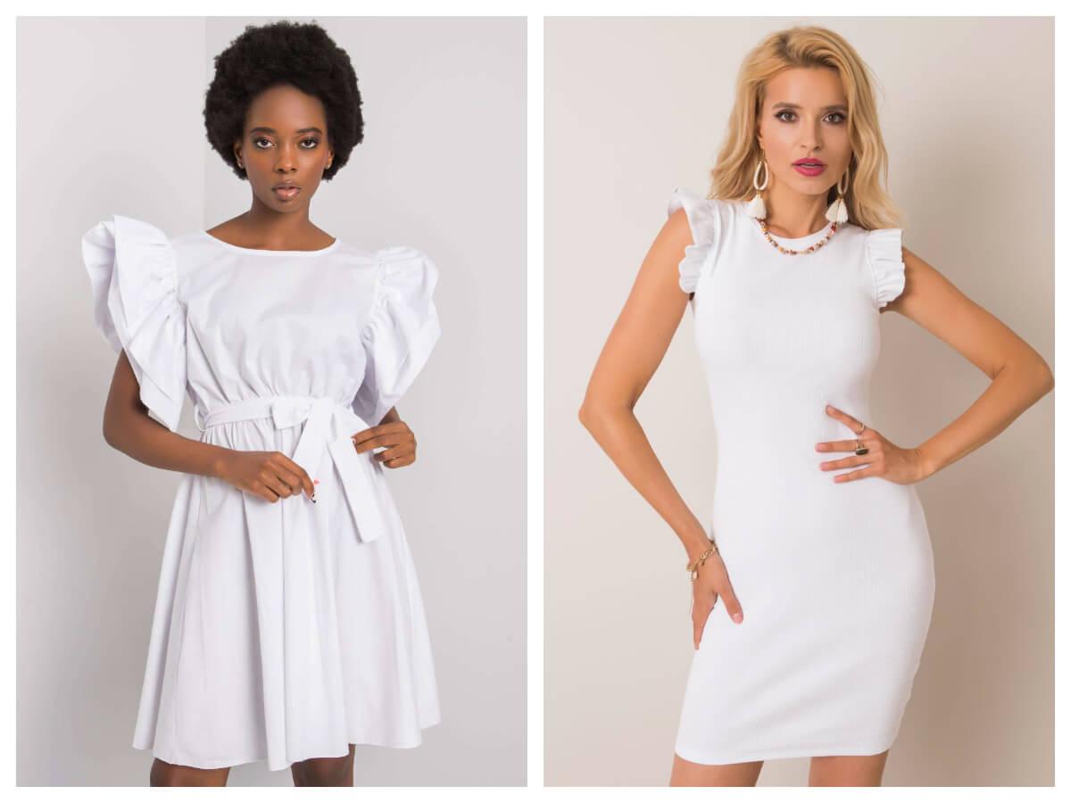 Modne białe sukienki mini na lato
