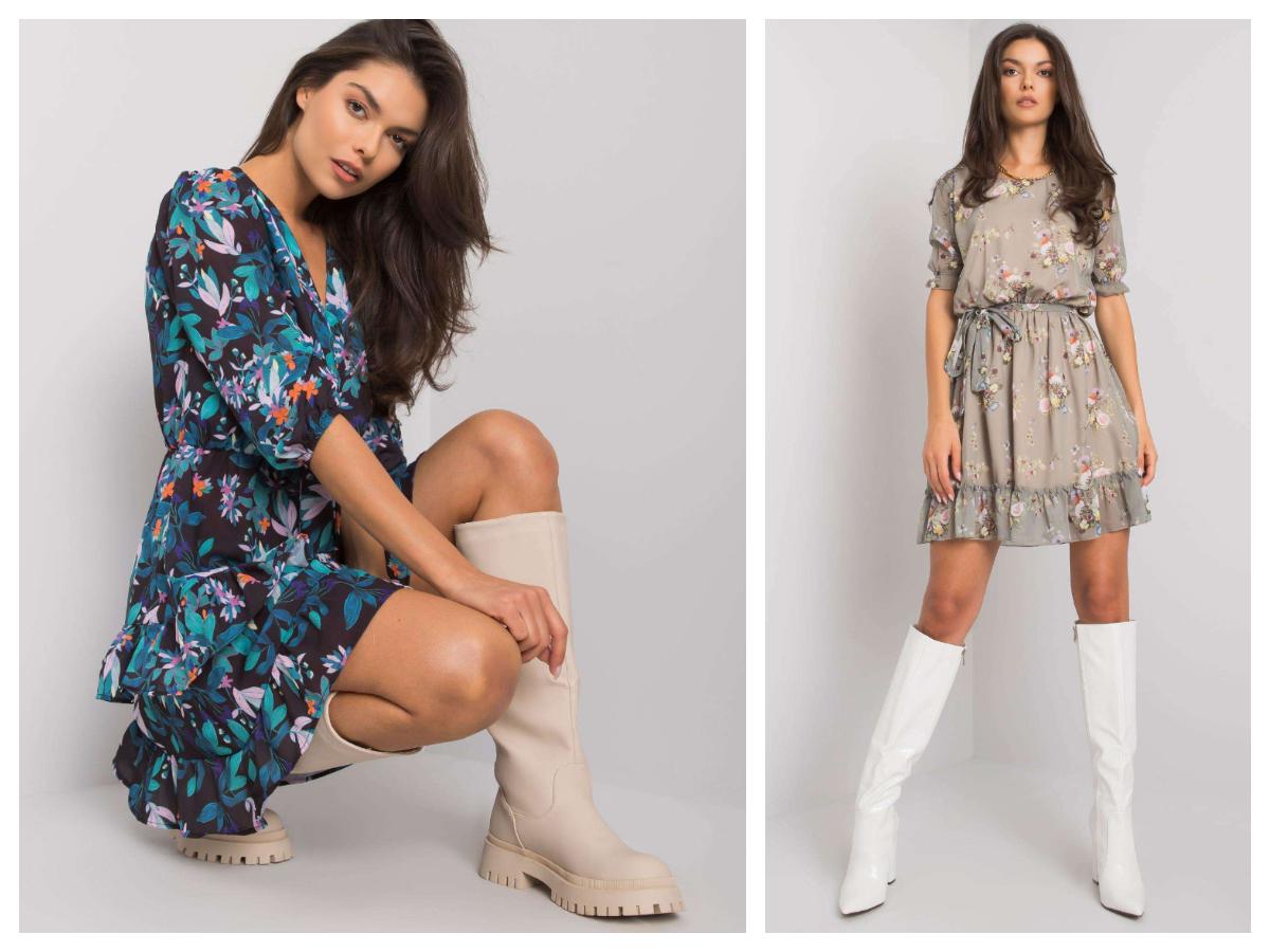 Letnie sukienki w jesiennych stylizacjach w jasnych odcieniach